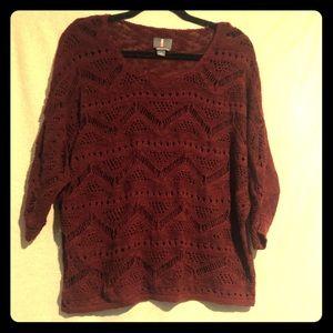 Buffalo jeans burgundy sweater